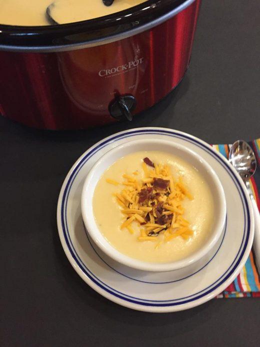 Slow Cooked Cheesy Potato Soup