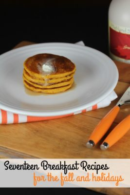 Breakfast Recipes for the fall and holidays