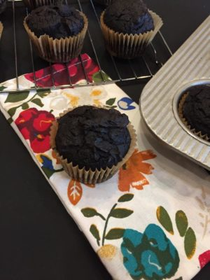 Double Chocolate Gluten Free Pumpkin Muffin