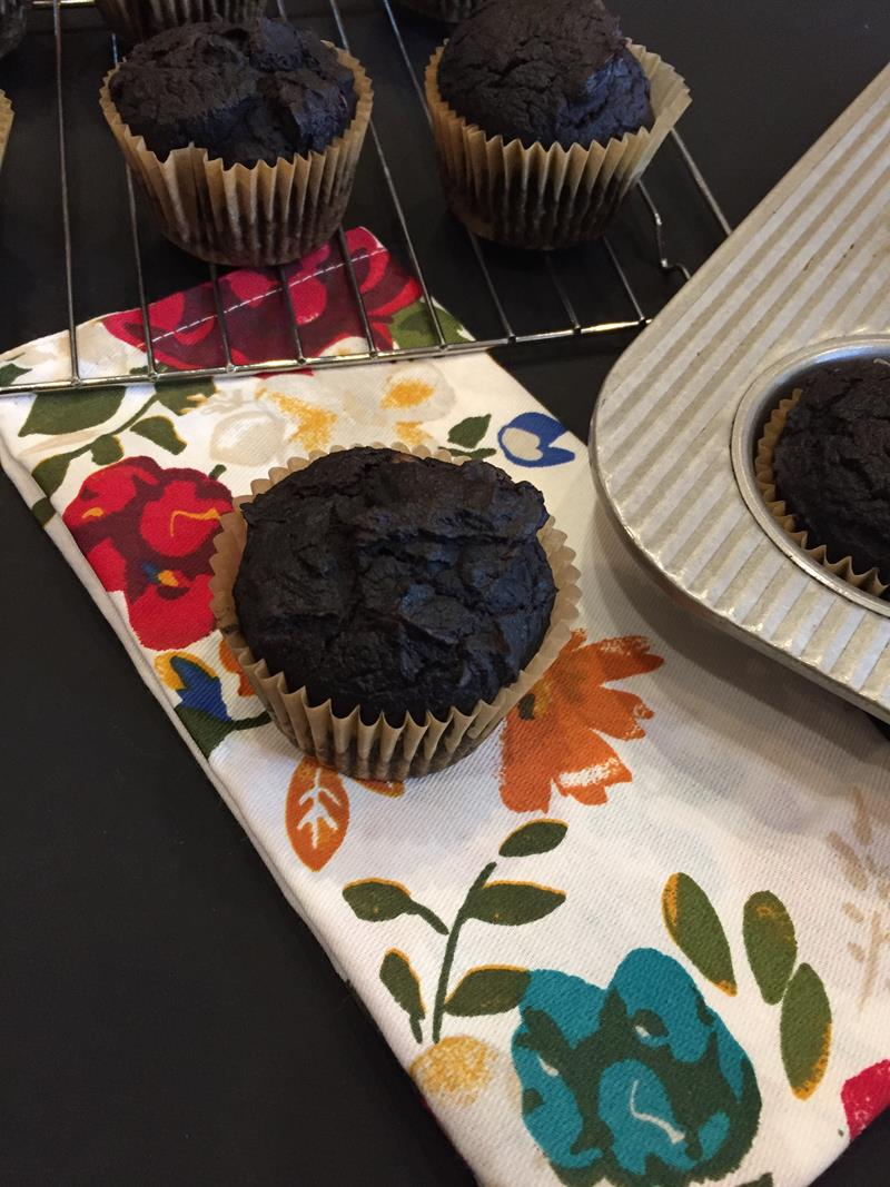 Double Chocolate Gluten Free Pumpkin Muffin