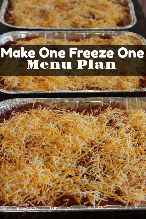 Make One Freeze One Menu Plan