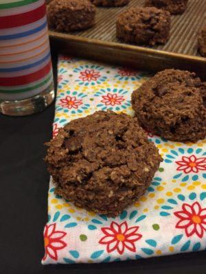Peanut Butter Chocolate Breakfast Cookies
