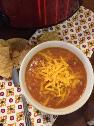 Slow Cooked Burrito Bowl Soup