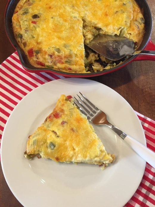 Crustless Fajita Quiche