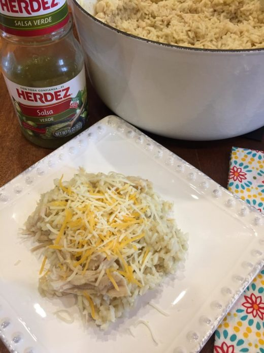One Pot Green Chili Chicken Rice