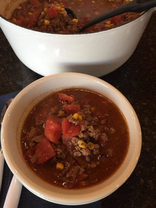 Taco Soup without Beans