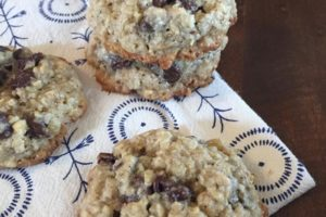 Flourless Oatmeal Chocolate Chip Cookie