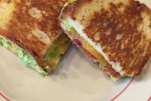 Bacon Avocado Grilled Cheese Sandwich