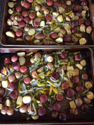Roasted Vegetables with Sausage and Potatoes