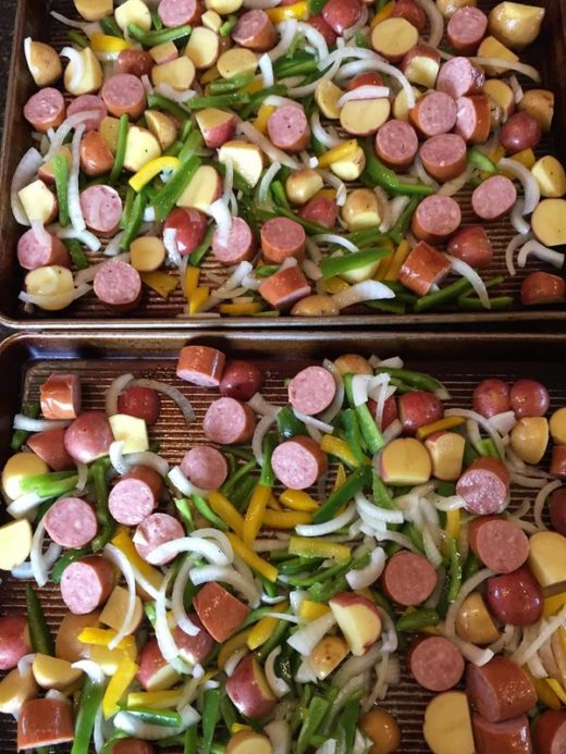 Roasted Vegetables and Sausage