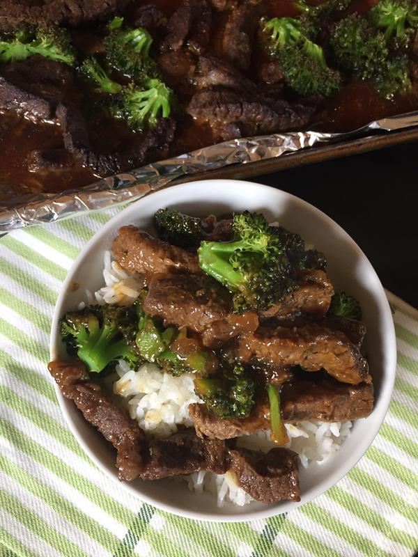 Sheet Pan Broccoli Beef