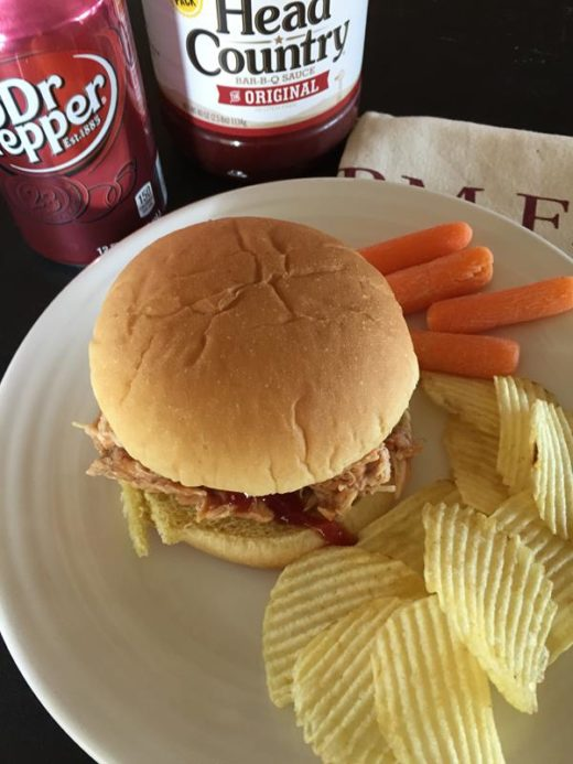Slow Cooked Dr Pepper BBQ Chicken
