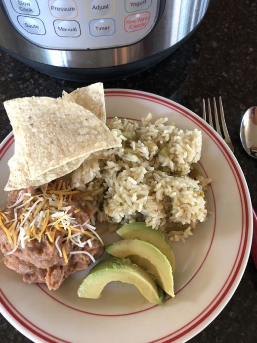 Instant Pot Green Chili Rice (1)