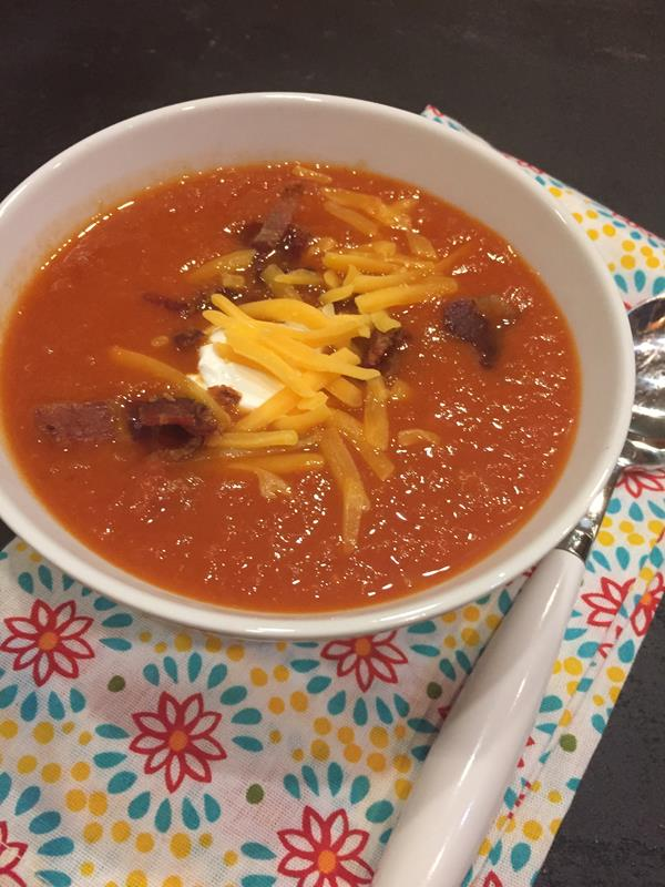 Bacon Tomato Soup with Cheese