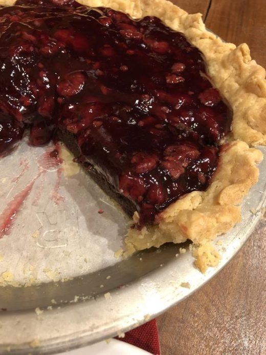 Chocolate Raspberry Pie with gluten free Pie Crust
