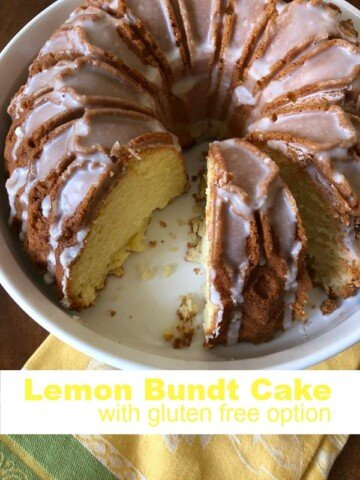 Lemon Bundt Cake with Gluten Free Option