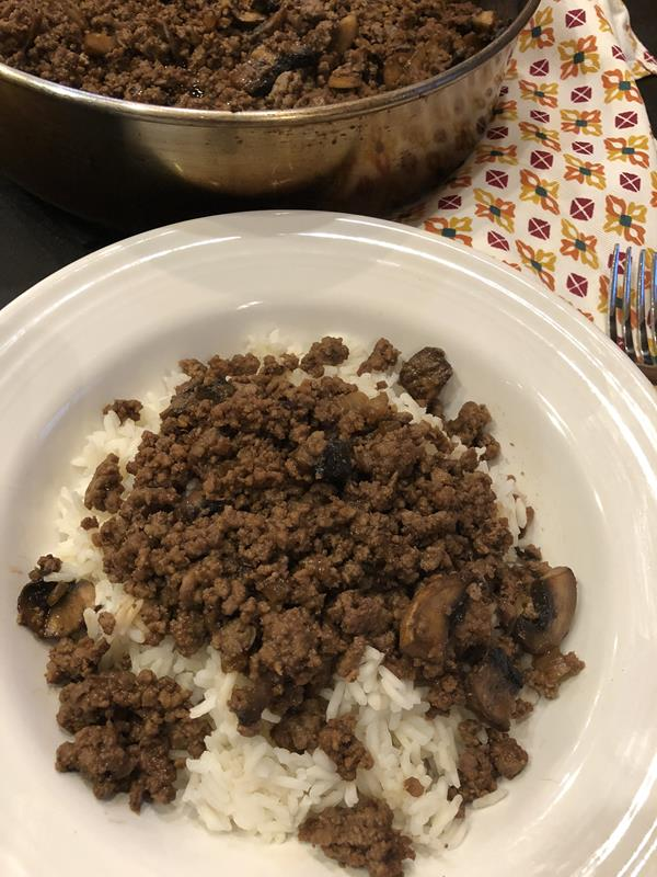 Teriyaki Ground Beef over Rice