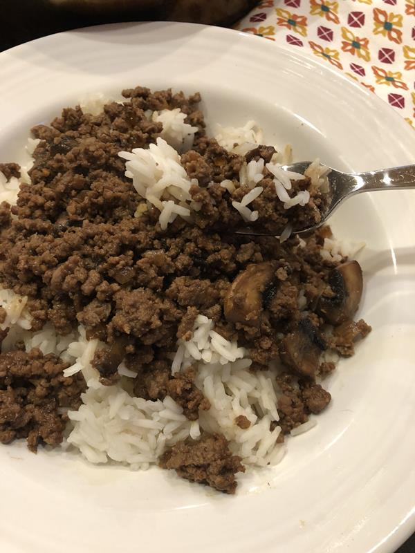 Teriyaki Ground Beef Over Rice Lynn S Kitchen Adventures