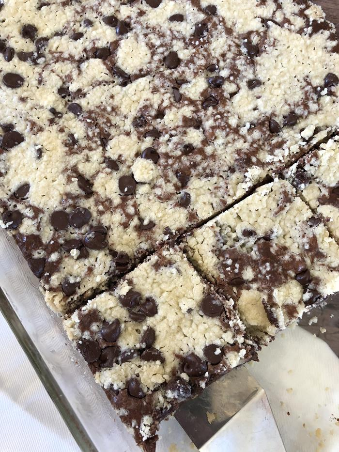 Chocolate Crumb Bars with Gluten Free Option