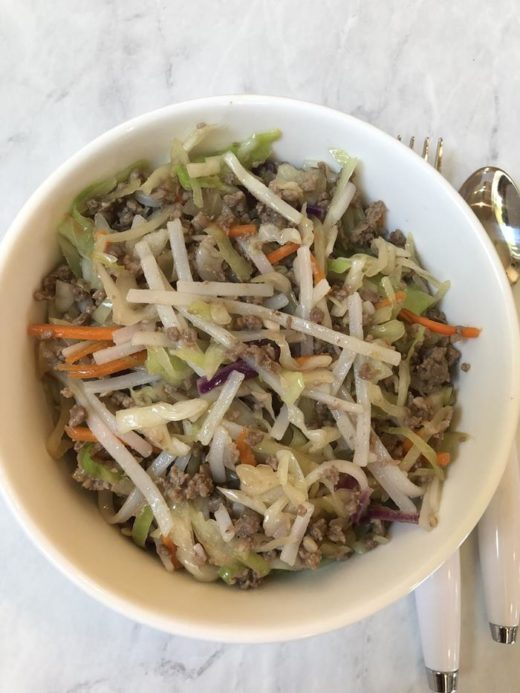 Egg Roll In a Bowl with Noodles