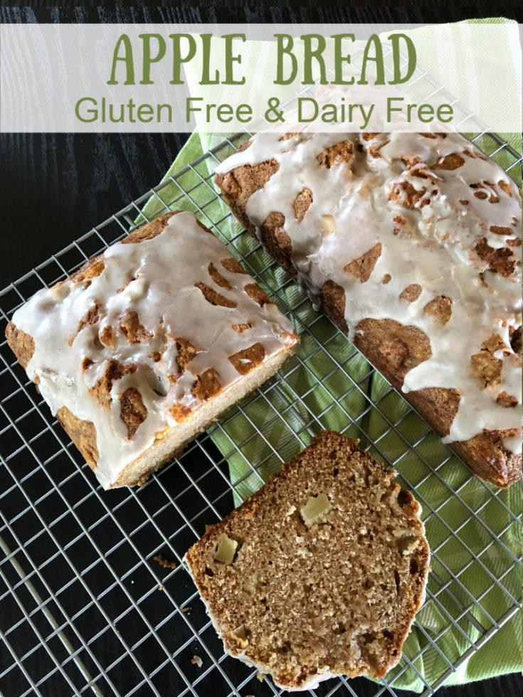 Gluten Free Dairy Free Apple Bread