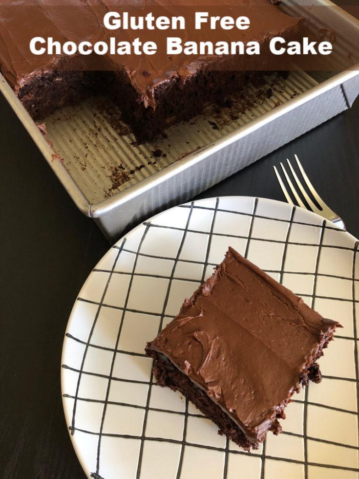 Gluten Free Chocolate Banana Cake