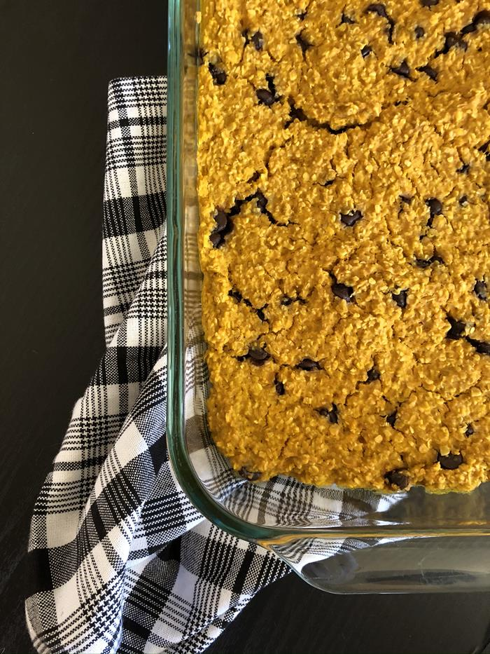 Pumpkin Chocolate Chip Baked Oatmeal Recipe