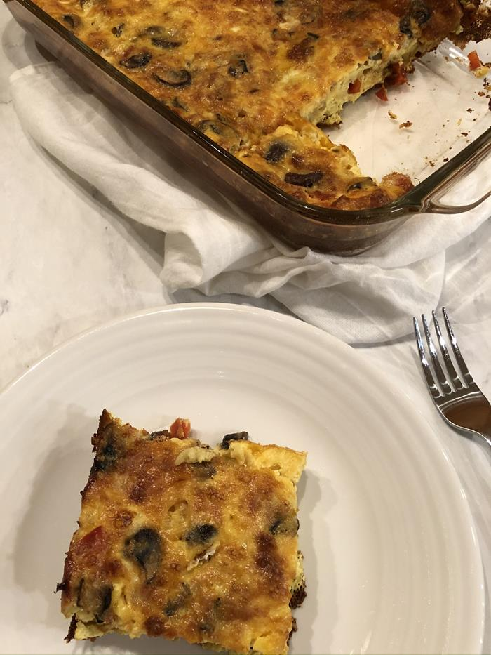 Easy Overnight Eggs with cheese