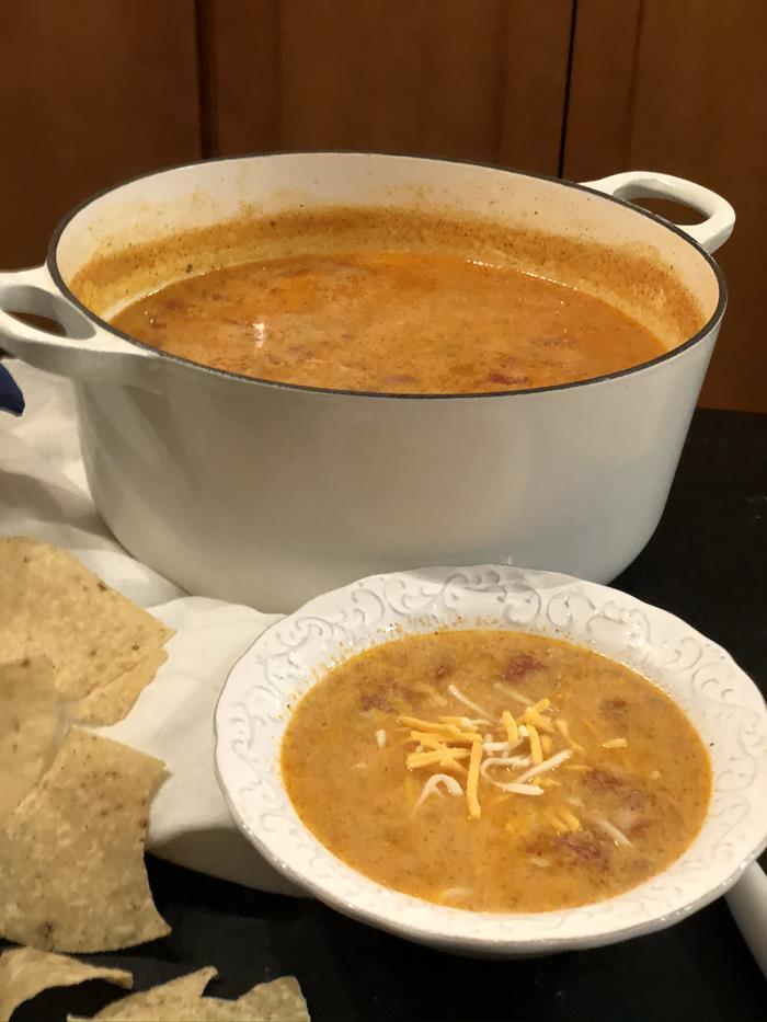Cheesy Beef Enchilada Soup Recipe