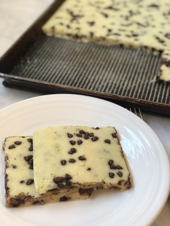 Chocolate Chip Sheet Pan Pancakes Recipe in Pan