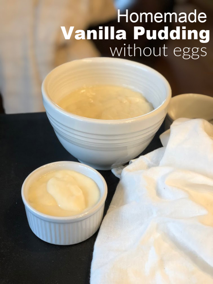 Homemade Vanilla Pudding without eggs