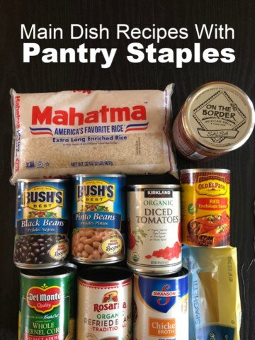 List of Dinners Using Pantry Staples