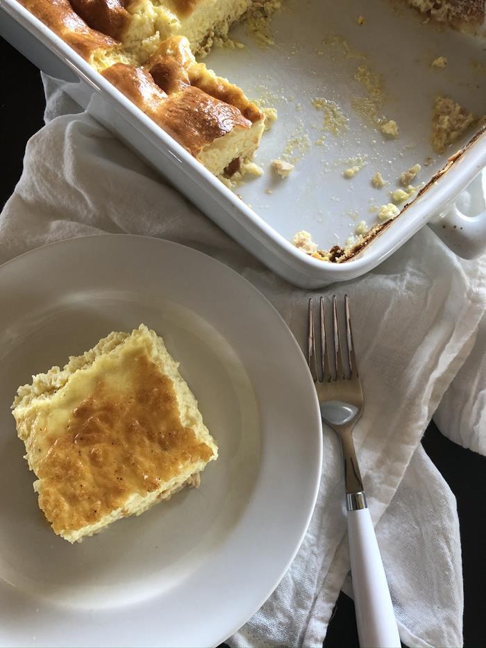 Crustless Salmon Cheese Quiche Recipe