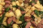 Potato Kielbasa Spinach One Pot Dinner