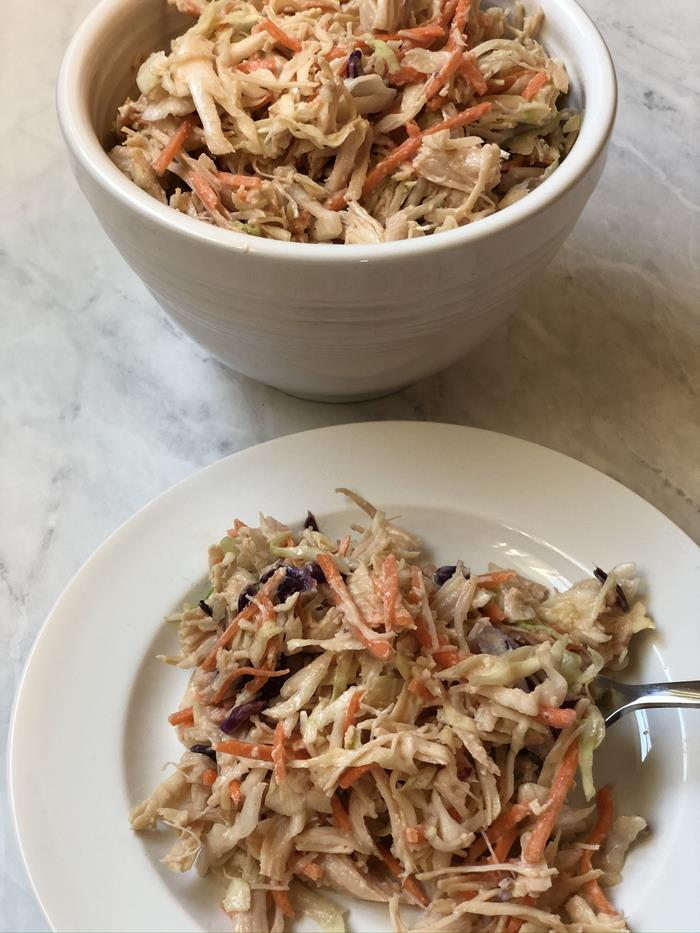 BBQ Chicken Cabbage Salad