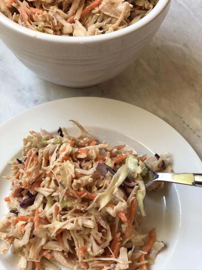 BBQ Chicken Salad With Cabbage