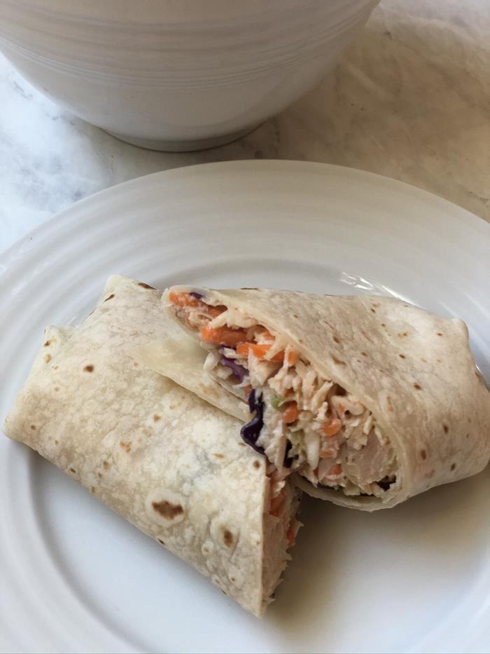 BBQ Chicken Salad Wrap Recipe