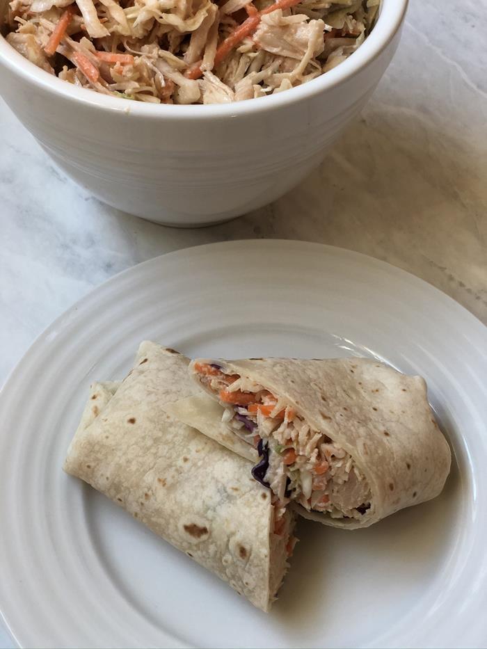BBQ Chicken Salad Wrap