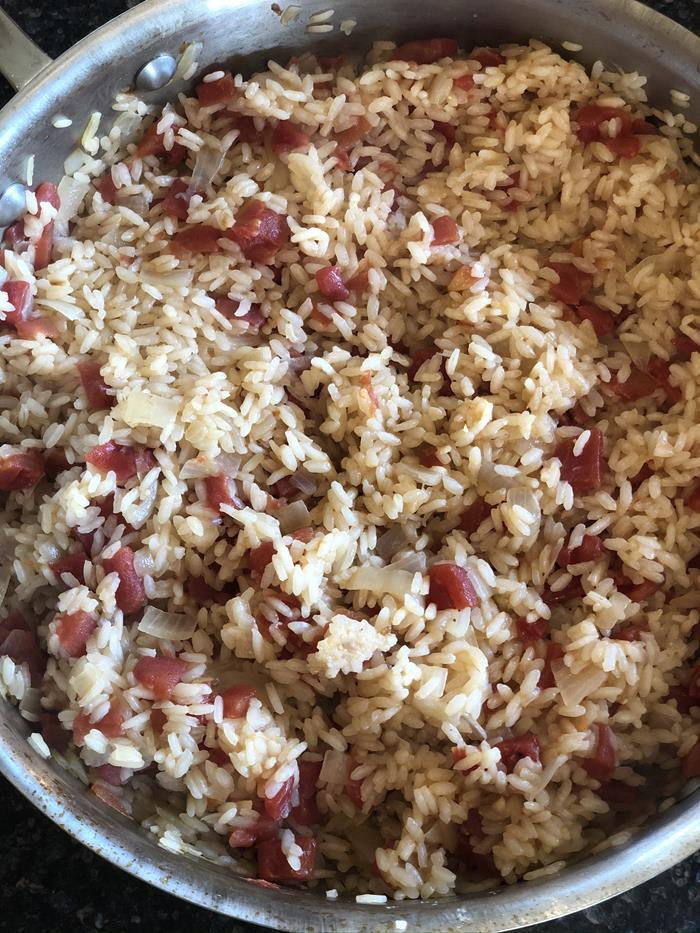 Mexican Rice with Tomatoes and Green Chiles