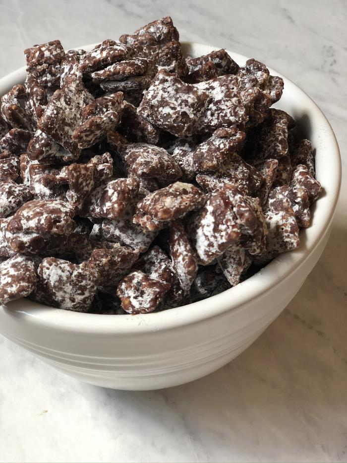Chocolate Raspberry Chex Mix