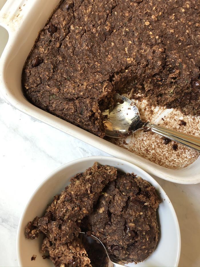 Chocolate-Zucchini-Baked Oatmeal