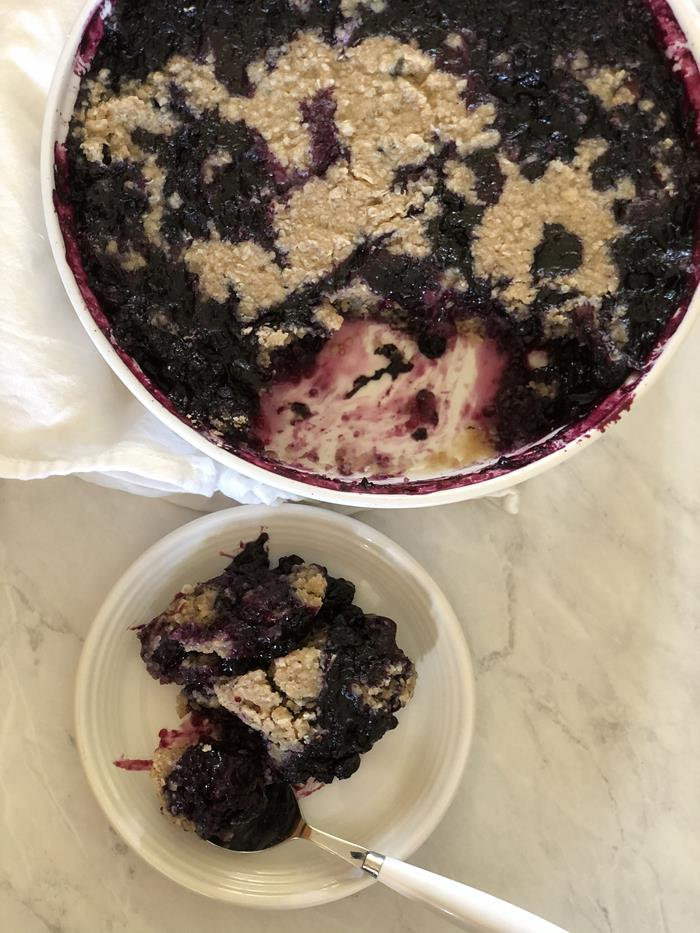 Microwave Blueberry Cobbler-