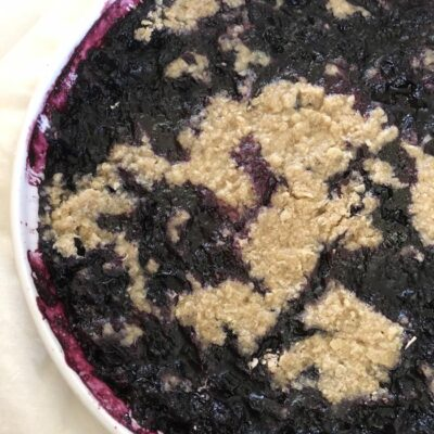 Microwave Blueberry Cobbler Recipe