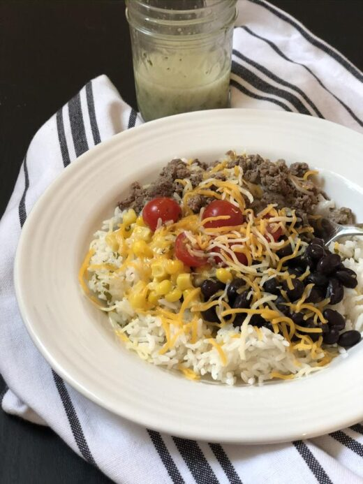 Burrito Bowl with Cilantro Lime Dressing