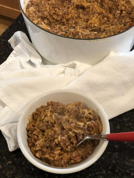 Easy one pot cabbage roll casserole