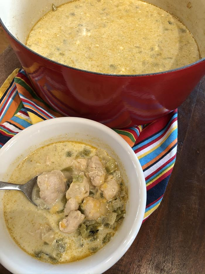 White Chicken Chili without Beans Recipe