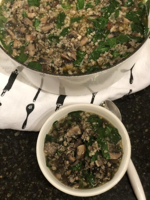 Sausage Spinach Soup without Beans Recipe