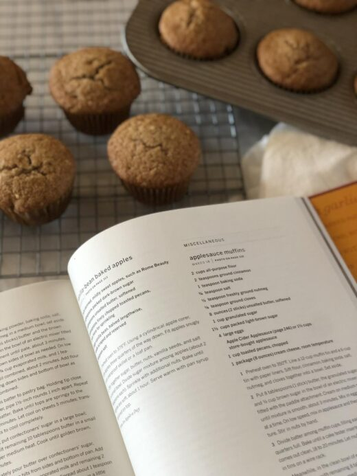 Martha Stewart Living Cookbook and Applesauce Muffins