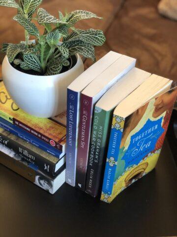 Stack of backlist books