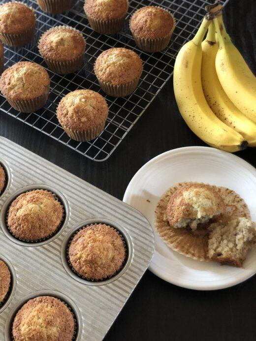 Gluten Free Banana Muffins on plate